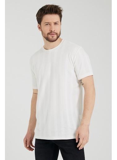 XHAN Siyah Triko T-Shirt 1Kxe1-44797-02 Beyaz
